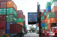 Secure container depots